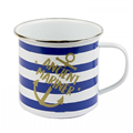 Nauticalia Ancient Mariner Striped Tin Mug
