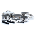 Kuuma 10 Piece Stainless Steel Cookware