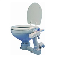 Ocean Technologies Manual Toilet Space Saver with Wooden Seat