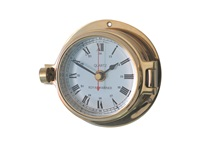 Meridian Zero Channel Range Brass Clock