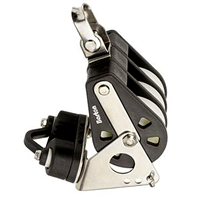 Barton Marine Size 4 58mm Triple Block with Swivel, Becket & Camcleat