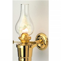 Nauticalia Brass Gipsy Moth Gimballed Oil Lamp