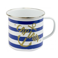 Nauticalia Captain Striped Tin Mug