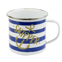 Nauticalia Skipper Striped Tin Mug