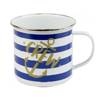 Nauticalia Crew Striped Tin Mug