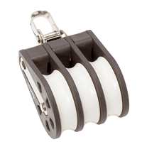 Barton Marine Size 4 Triple Swivel 58mm Block 04330