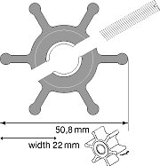 Johnson Pump Replacement Impeller 09-810B-1