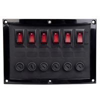 Talamex 6 Switch Horizontal Panel (Fused)