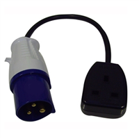 Waveline 16 Amp Plug to 13 Amp 3 Pin Socket