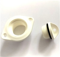 Plastimo Oval Drain Bung Socket with Plug