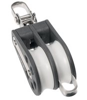 Barton Marine Size 3 Double Swivel with Becket 45mm Block 03231