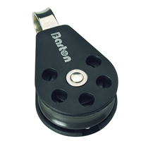 Barton Marine Size 3 Single Fixed Eye 45mm Block N03110