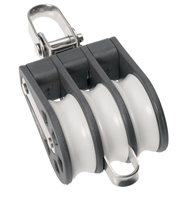 Barton Marine Size 4 Triple Swivel & Becket 58mm Block 04331