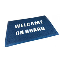Trem Blue Welcome On Board Mat