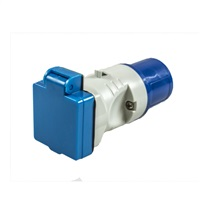 Maypole 230V 16A Plug to BS Socket Adaptor