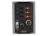 Talamex 3 Switch Panel with Cig Lighter and Battery Tester