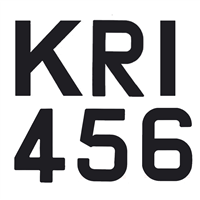 300mm Sail Numbers & Letters - Black by Bainbridge Marine