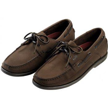 Gill  Baltimore 2 Eyelet Deck Shoe - Dark Brown Nubuck  - Click to view larger image