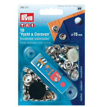Prym Press Fasteners with Screws  - Click to view larger image
