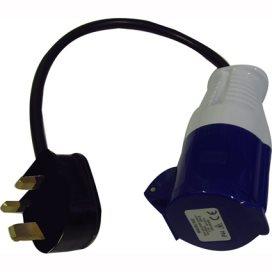 Waveline UK Mains to 16amp Socket Adapter