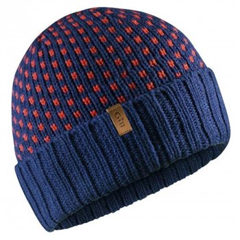 Gill  Jacquard Knit Beanie - Dark Blue  - Click to view larger image