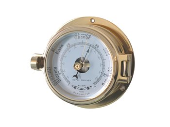 Meridian Zero Channel Range Brass Barometer  - Click to view larger image