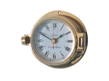 Meridian Zero Channel Range Brass Clock   - Click to view larger image