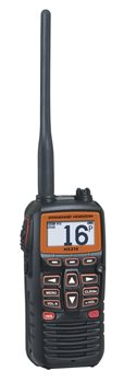 Standard Horizon HX210E Floating VHF Marine Transceiver with FM Radio  - Click to view larger image
