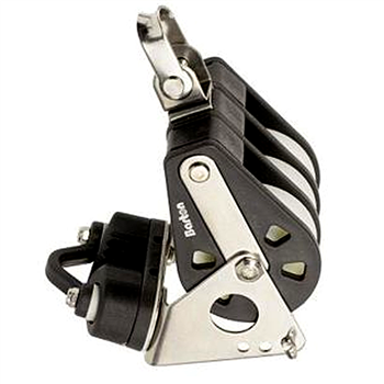 Barton Marine Size 4 58mm Triple Block with Swivel, Becket & Camcleat   - Click to view larger image