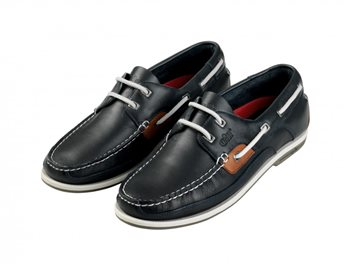 Gill  Baltimore 2 Eyelet Deck Shoe - Navy  - Click to view larger image
