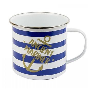 Nauticalia Ancient Mariner Striped Tin Mug  - Click to view larger image