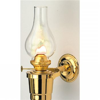 Nauticalia Brass Gipsy Moth Gimballed Oil Lamp  - Click to view larger image