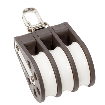 Barton Marine Size 4 Triple Swivel 58mm Block 04330  - Click to view larger image