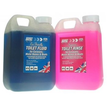 Maypole Toilet Fluid and Rinse (Twin Pack)  - Click to view larger image