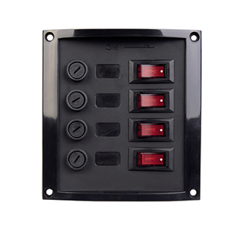 Talamex 4 Switch Panel (Fused)  - Click to view larger image