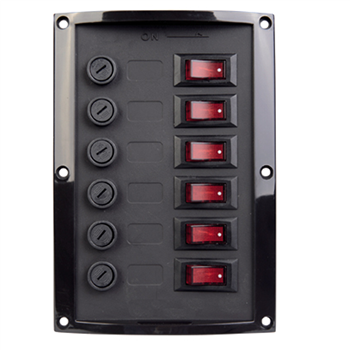 Talamex 6 Switch Vertical Panel (Fused) 1