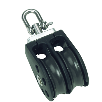 Barton Marine Size 2 Double with Swivel 35mm Block 02230  - Click to view larger image