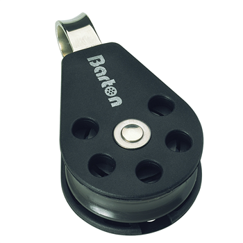 Barton Marine Size 3 Single Fixed Eye 45mm Block N03110  - Click to view larger image