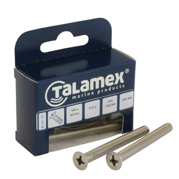 Talamex Countersunk Philips Head Bolt  - Click to view larger image