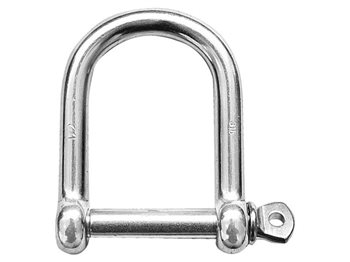 Talamex Stainless Steel Wide Pin D Shackle 1