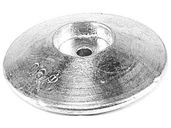 Talamex Zinc Round Rudder Anodes  - Click to view larger image