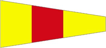 Waveline Numeral Pennant Number 0  - Click to view larger image