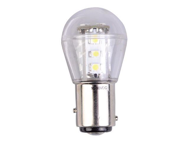 LED Navigation Light Bulbs with Offset Pins BAY15D - Green